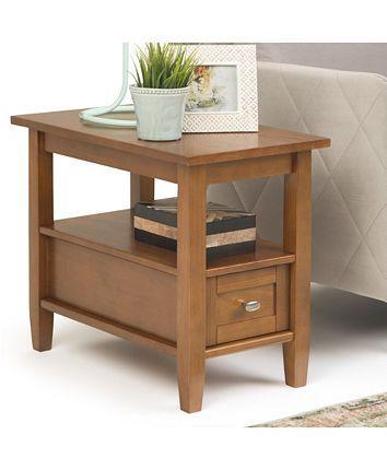 Simpli Home Warm Shaker Side Table Reviews Furniture Macy S