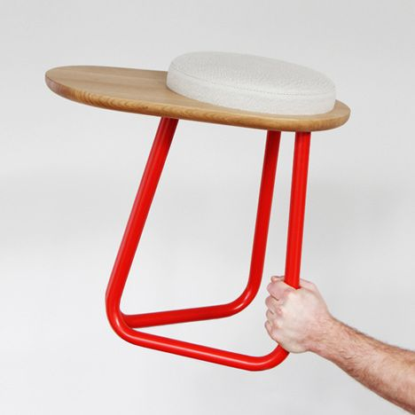 Tisch design  Rubber Table in orange or: Pömpel | table . Tisch | Design made in ...