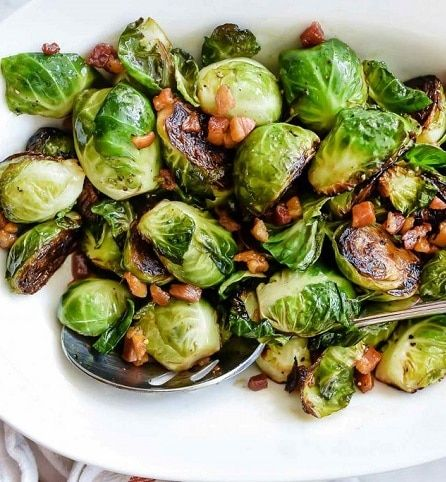 Roasted Brussels Sprouts With Pancetta Recipe Brussel Sprouts