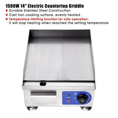 Ad Ebay Url 1500w 14 Electric Countertop Griddle Flat Top