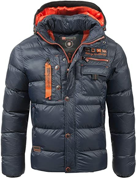 Geographical Norway Mens Quilted Winter Jacket Citernier Hood