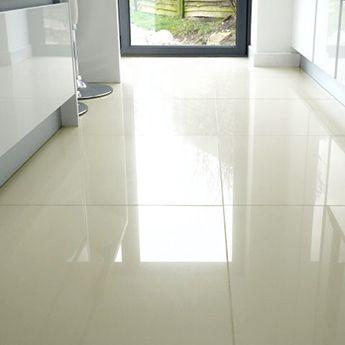 Cream Polished Porcelain Floor Tiles Porcelain Floor Tiles