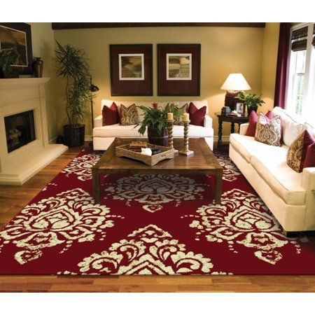 Modern Area Rugs 2x3 Small Rugs For Red Bedroom Door Mat Area Rugs Walmart Com In 2021 Red Living Room Decor Red Rug Living Room Rugs In Living Room