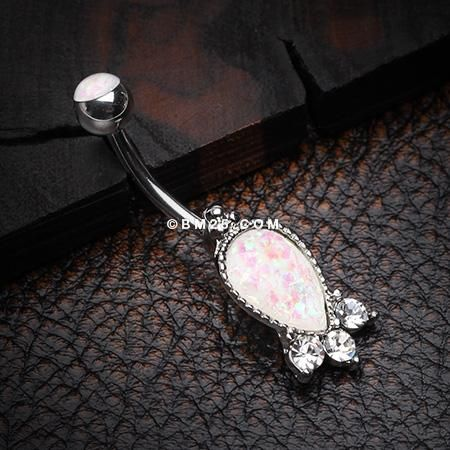 Golden Victorian Opalescent Sparkle Belly Button Ring