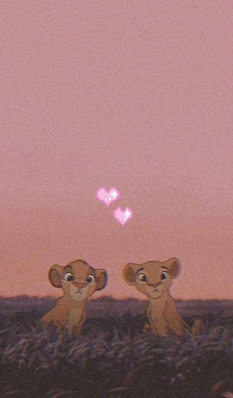 Обои на телефон, маленькие львята