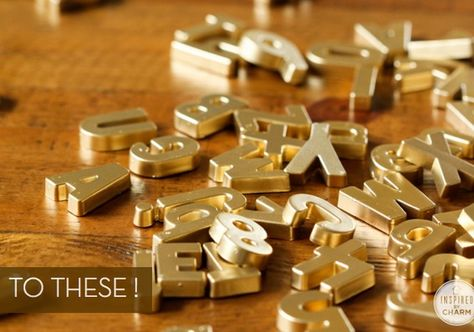 Make It: Classy DIY Magnetic Letters