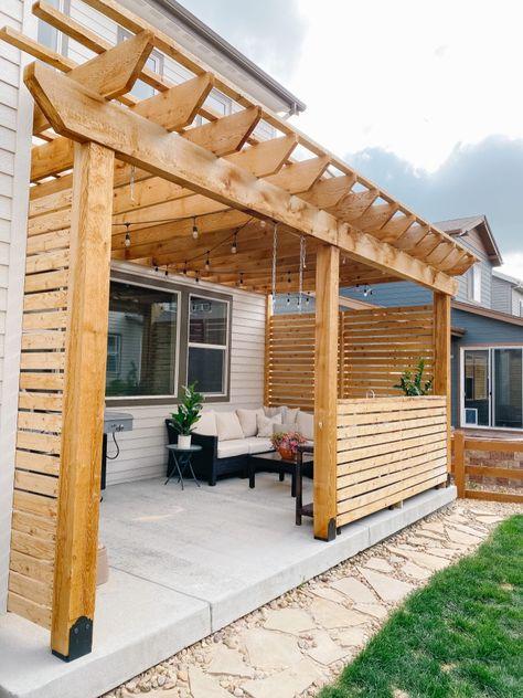 Diy Pergola, Cedar Pergola, Outdoor Pergola, Outdoor Spaces, Outdoor Living, Outdoor Patios, Modern Pergola, Pergola Shade, Outdoor Kitchens
