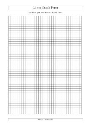 Cm Graph Paper With Black Lines A Size A  Card Making