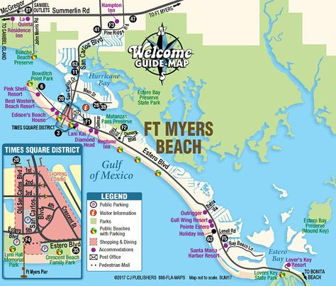Ft Myers Beach Street Map Map Of Fort Myers Beach Florida Fort