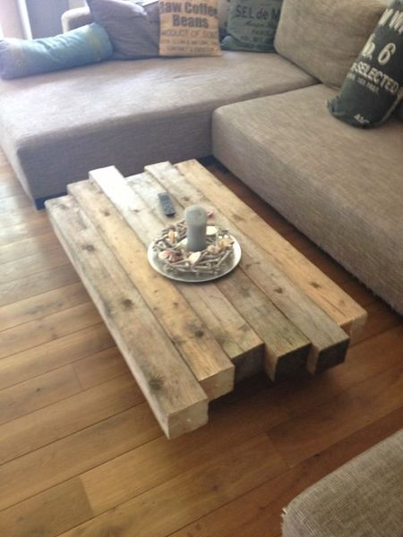 Coffee table rustic by Schlicht. ... with love aufgemöelt on DaWanda.com - wood table DIY