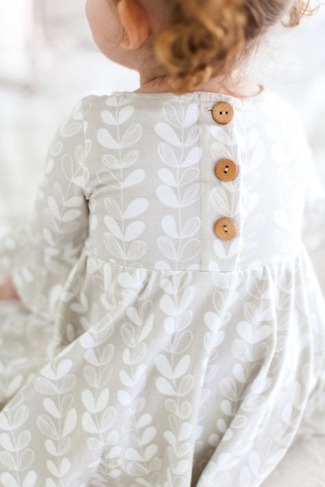 Frill sleeve twirl dress in Frosted Leaves