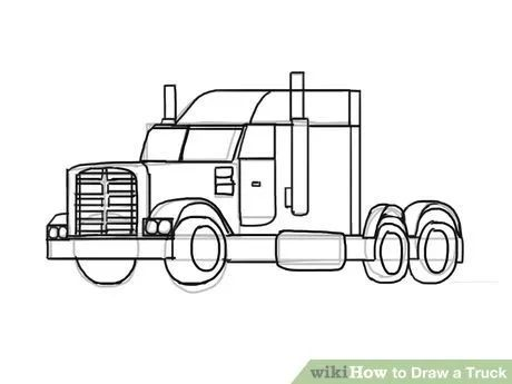 How to Draw a Truck | Kids art class, Easy drawings for kids, Drawings