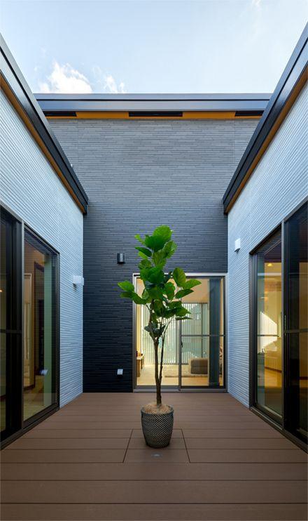 モデルハウス センターコートハウス 中庭をめぐる360度動線を実現した