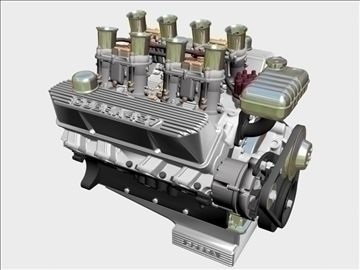 Ford 427 Weber V8 Engine 3d Model V8 Engine Engineering 3d Model