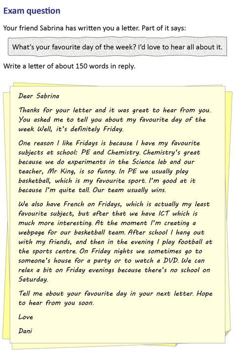 A Letter To A Friend Friendly Letter English Writing Informal