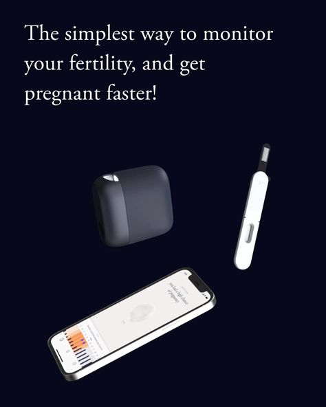 A 30 second saliva test, a daily update on your fertility status.