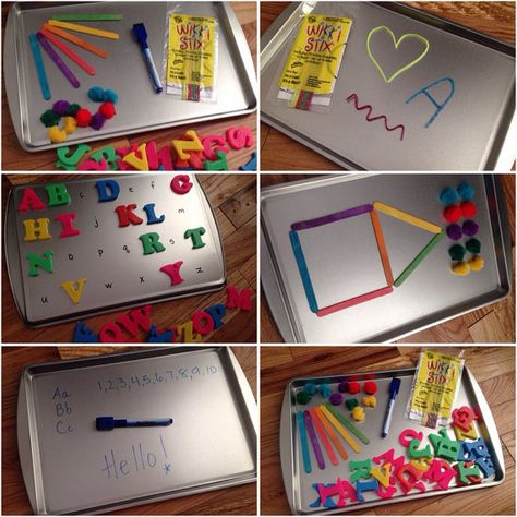Magnetic Travel Activities - saves my sanity in the car with kids!