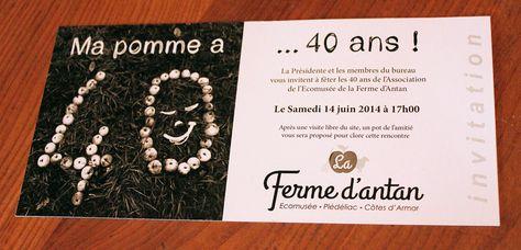 Pin On Carte Invitation Anniversaire
