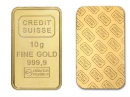 Credit Suisse 10 Gram Gold Bar In 2020 Gold Bullion Bars Gold Bullion Things To Sell