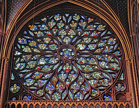 Gothic Art Stained Glass WIndow Picture