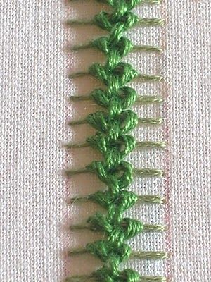 Embroidery stitch how to