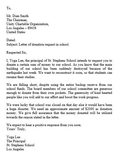 Donation Request Letter And How To Make Best Of It Check More At
