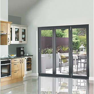 Jci Limited Bi Fold Patio Door Set Anthracite Grey 1790 X 2090mm Doors Screwfix Com Bifold Patio Doors Folding Patio Doors White Bifold Doors