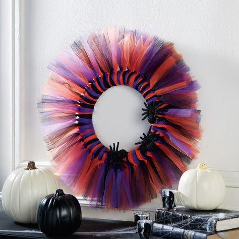 DIY Halloween Tutu Tulle Wreath