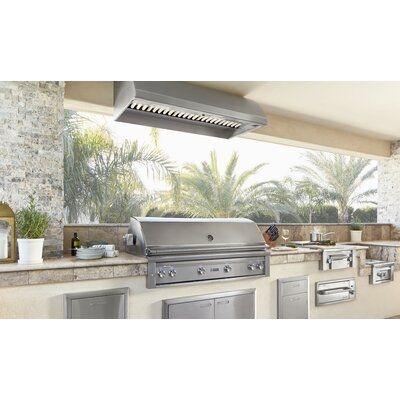Lynx 1500 Cfm Range Hood External Blower Modern Outdoor Kitchen Outdoor Kitchen Outdoor Kitchen Design