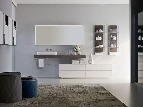 Weisse Badmobel Unterschrank Und Waschtisch Aus Holz Unser Neues