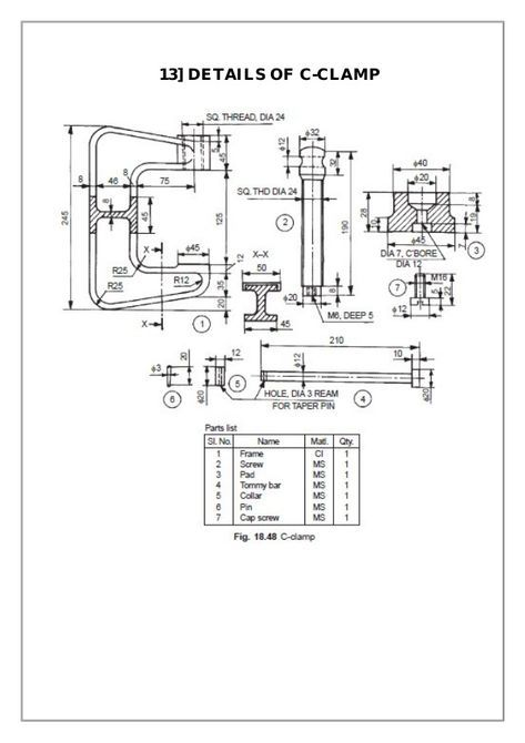 Assembly and Details machine drawing pdf | Creo in 2019