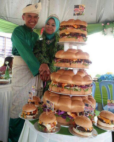 You had me at Cheeseburger.  Cheeseburger Wedding Cake