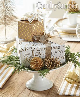 Stack A Gift Box Centerpiece Christmas Sleigh Holiday Centerpieces Christmas Centers