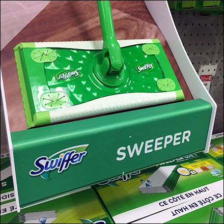 Swiffer Sweeper Curved Display For Pegboard Fixtures Close Up Swiffer Peg Board Display
