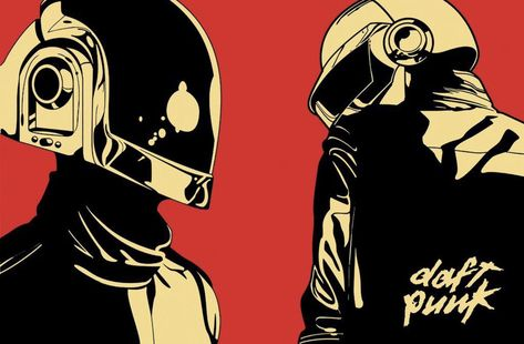 "This is a Daft Punk poster reproduction. It measures 24"" x 36"" in size and ships rolled in a mailing tube"