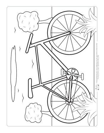 Transportation Coloring Pages For Kids Itsybitsyfun Com Bicycle Crafts Coloring Pages Coloring Pages For Kids