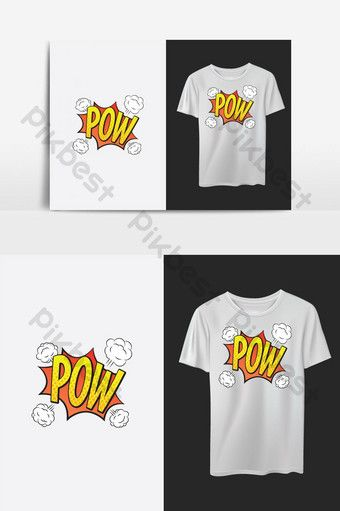 Pow Stylish Colorful T Shirt Design Pikbest Graphic Elements In 2020 T Shirt Design Template Tshirt Designs Shirt Designs