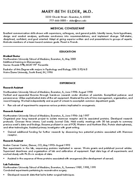 Medical Student Resume Curriculum Vitae Medical Doctor  Httpwwwresumecareer