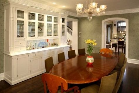 Kitchen Bar Cabinet Dining Room Traditional With Beige Curtain