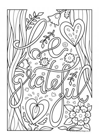 Be Grateful Colouring Page Thanksgiving Coloring Pages Coloring Pages Colouring Pages