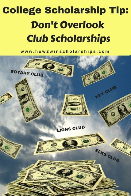 Club scholarships are a great scholarship resource that many students overlook…