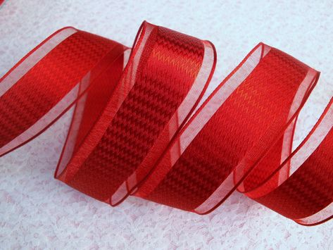 "5 Yards Christmas All Red Glitter Wired Ribbon 1 1//2/""W"