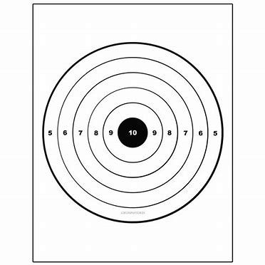 photo relating to Printable Shooting Targets 8.5 X 11 named Graphic consequence for Pistol Goals Printable for 8.5X11