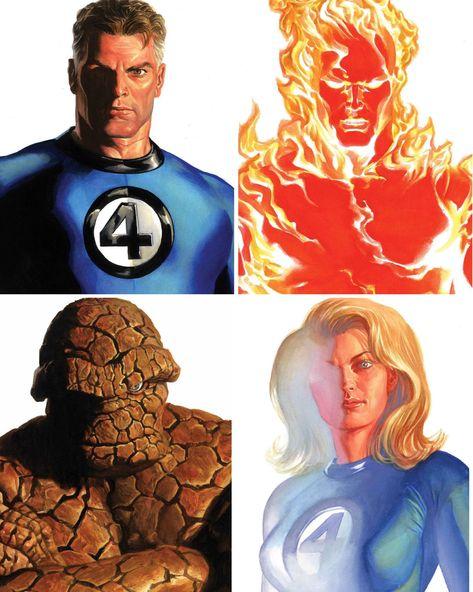 Marvel Comics Art, Marvel Heroes, Captain Marvel, Comic Book Heroes, Comic Books Art, Comic Art, Alex Ross, Fantastic Four, Marvel Universe