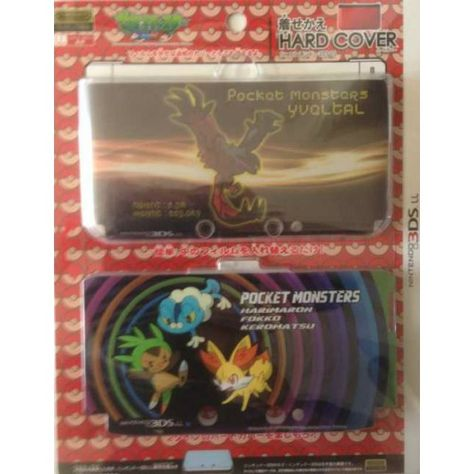 Pokemon Center 2013 Nintendo 3DSLL Yveltal Chespin Fennekin Froakie 2 Interchangeable Hardcover Set