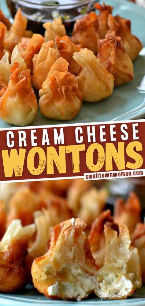 Appetizer Dips, Yummy Appetizers, Cream Cheese Appetizers, Best Appetizer Recipes, Cream Cheese Wontons, Wonton Recipes, So Little Time, Asian, Food Processor Recipes