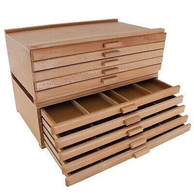 10 Drawer Wood Artist Supply Storage Box For Pastels Pencils Pens Markers 848849003130 Eba Artist Supplies Storage Art Supplies Storage Craft Room Storage