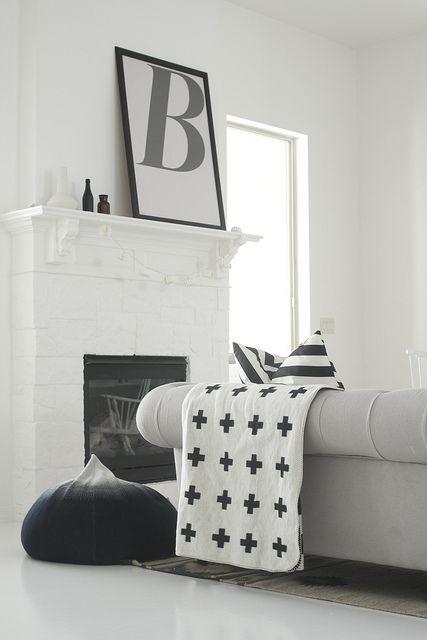 Black White Mantel Black And White Interior White Interior Interior