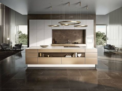 MUST HAVE LIGHT FIXTURE OVER ISLAND* SieMatic Pure SE 3003 R in - leicht küchen katalog