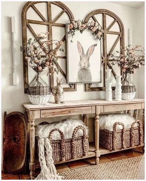We have 181 entry table ideas that will enhance your house. The pictures of the entry table ideas are diverse, from luxurious classic to woodwork, vintage entry table. decorations living room 181 Entry Table Ideas 2020 (for Fantastic First Impression) Entryway Wall Decor, Foyer Table Decor, Farmhouse Entryway Table, Rustic Entryway, Dining Table, Farmhouse Wall Decor, Vintage Farmhouse Decor, Console Table, Entry Tables